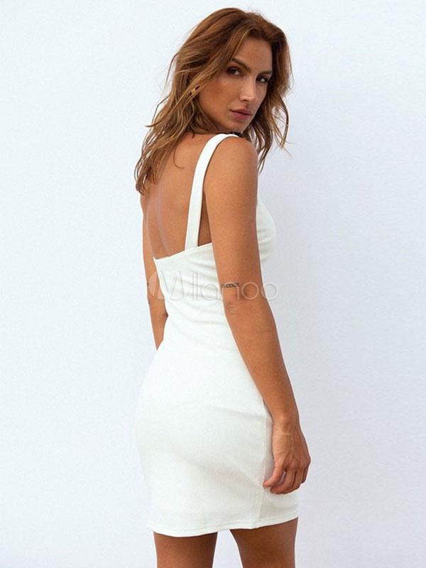 brand new 03b2d c9493 Weißes, Kleid, Ärmelloses Damen-Sommerkleid