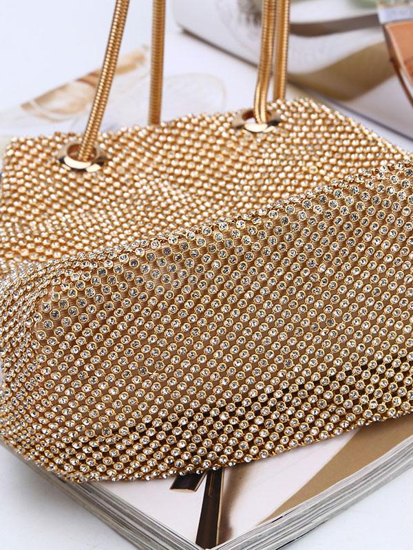 De Bretelles Double Strass Femme Sacs Perles Accessoires En Poignée Spéciale Seau Soirée Occasion 45RqAL3j