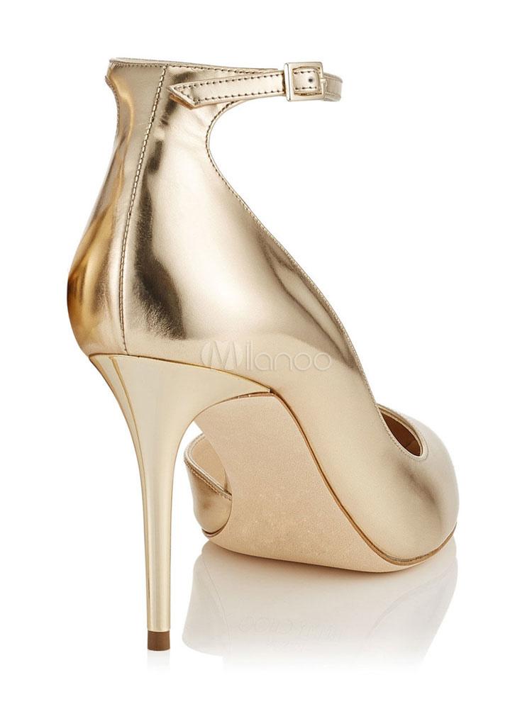 High Heels schwarz golden, hoch