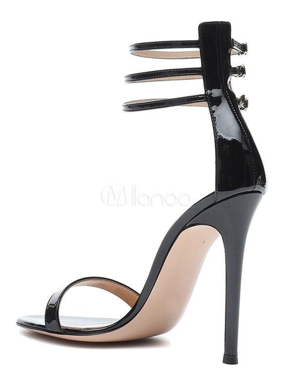 cd78ca599 ... Black Dress Sandals High Heel Party Shoes Women Open Toe Ankle Strap  Sandal Shoes-No