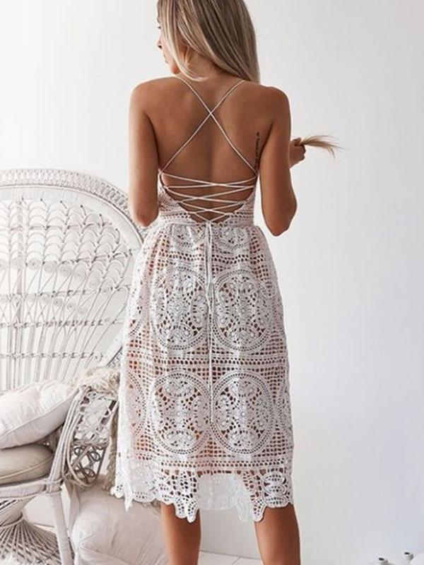 spitzenkleider weiß kleid mit spitze mit überkreuzten