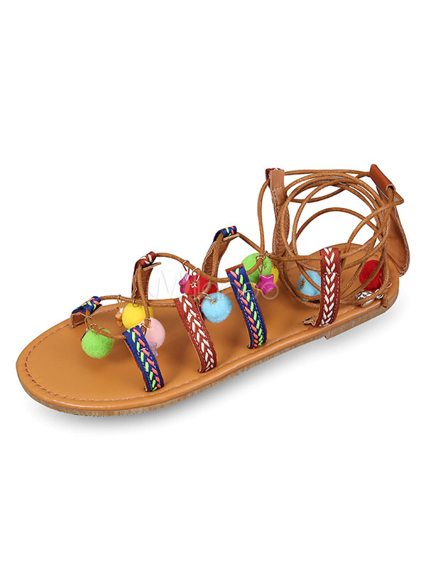 Marrón Gladiador Zapatos Planas Sandalias De Con 4R5q3LAcj