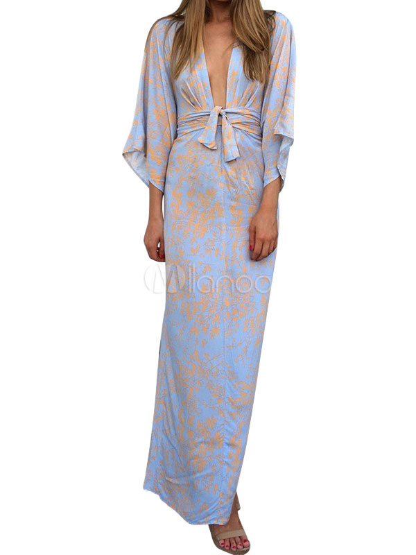 scegli l'ultima le più votate più recenti nuovi arrivi Abito lungo con maniche lunghe a maniche lunghe e abito lungo con stampa  Kimono