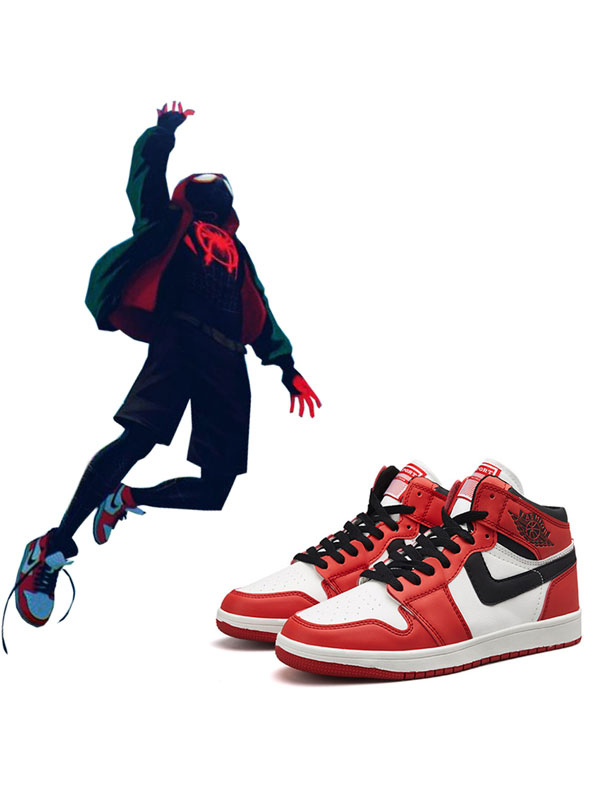 Anime Cosplay Shoes Spider Man Into The