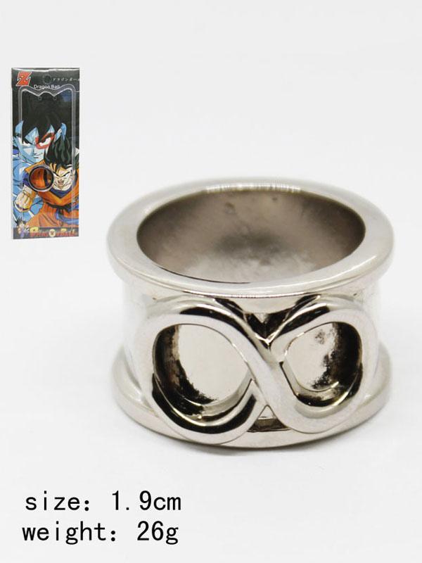 mode de luxe qualité authentique braderie Dragon Ball Cosplay Accessoires Super Zamasu Son Goku Bague Noire Halloween