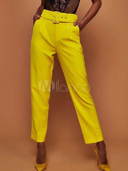 Pantalones De Vestir Para Mujer Cintura Alta Tienda Online De Zapatos Ropa Y Complementos De Marca