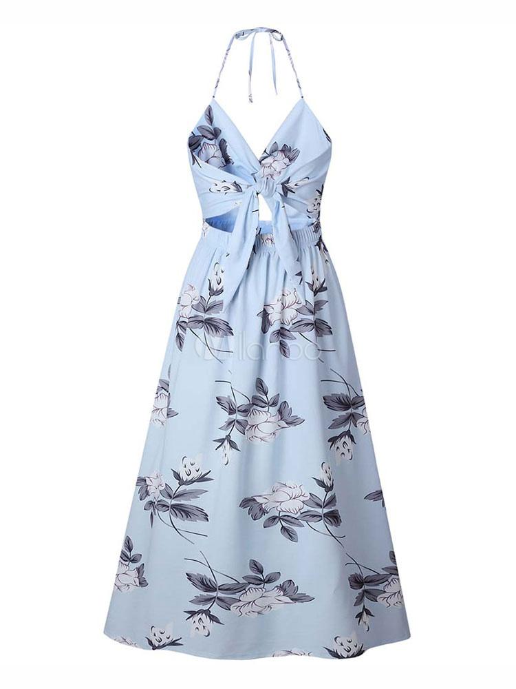 35109a1c5cb2 ... Floral Maxi Dress Split Sleeveless Printed Floor Length Slip Dress-No.3  ...