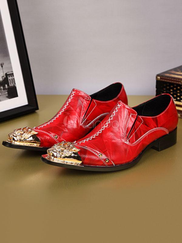 1494a6c4322ce2 Chaussures habillées en cuir de vachette pour homme, à bout pointu,  chaussures de soirée ...