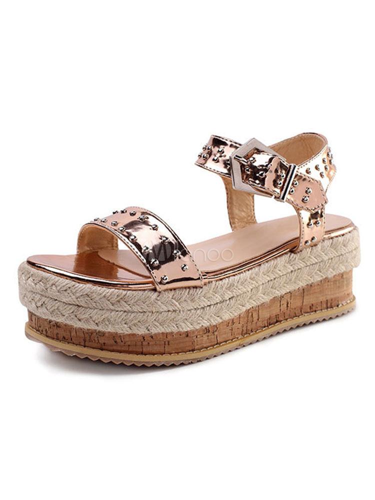 Para Con Plataforma Plateadas Sandalias Cuña Zapatos Mujeres Xn08wopk 8wPk0XnO