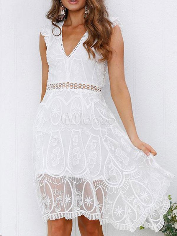 weiße spitzenkleider