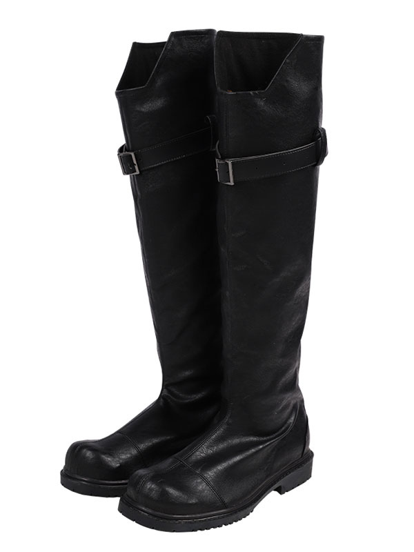 Anime Final Fantasy VII Cosplay Sephiroth Black Buckle Boots Shoes