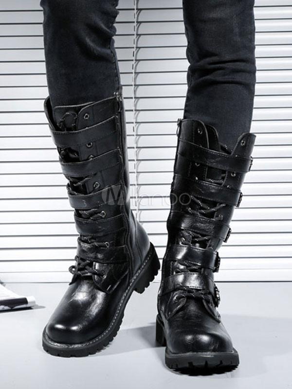 martens Boucle Bottes Rond Hommes À Chaussures Bout Pour Fabuleuse Dr sdtQrCh