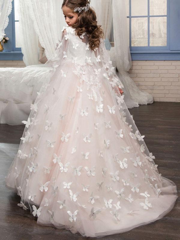 Blumenmädchen Kleider Prom- Weiß Abendkleider für Hochzeit ...