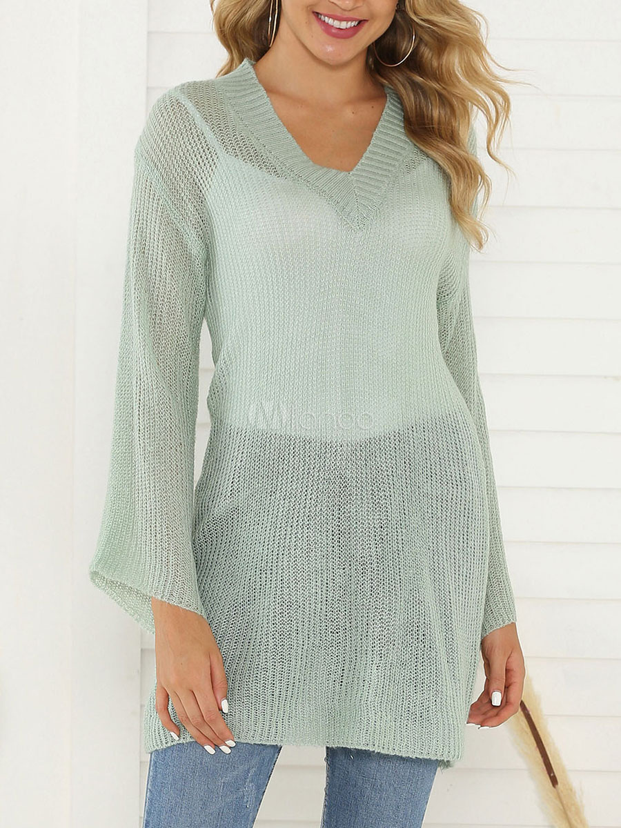 half off d5d35 2be68 Maglione pullover da donna con scollo a V moda