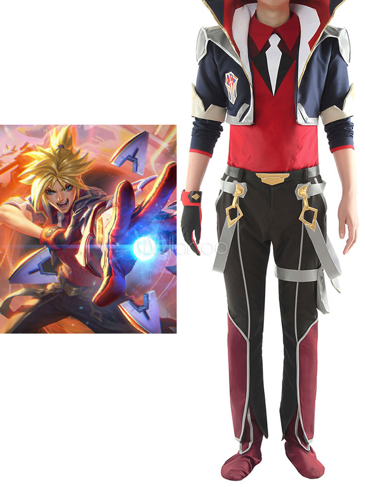 League Of Legends Ezreal Black Set Lol Fight Academy Halloween Game Cosplay Costumes