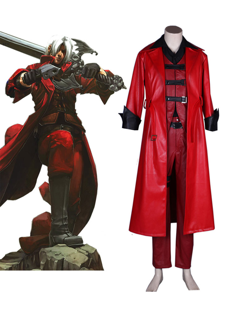 Devil May Cry I Cosplay Costume Dante Polyurethane Pu Outfit Cosplay Costume