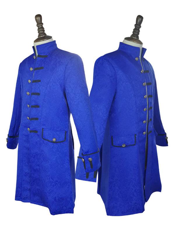 Cappotto vintage da uomo di mezza età abbottonato colletto jacquard retro abbigliamento