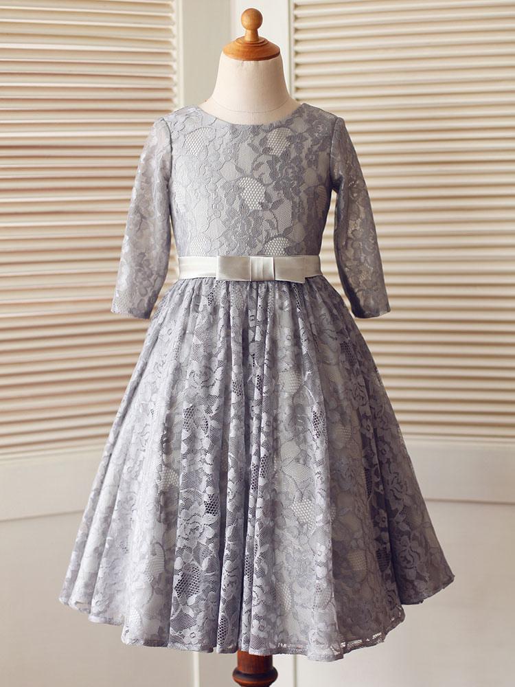 blumenmädchen kleider grau abendkleider für hochzeit