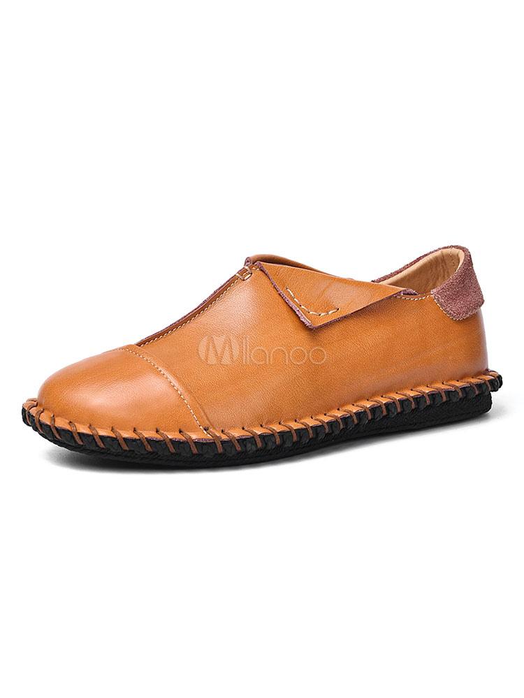 Herren Loafer Schuhe Slip On Round Toe bequeme Schuhe für den Alltag lässig