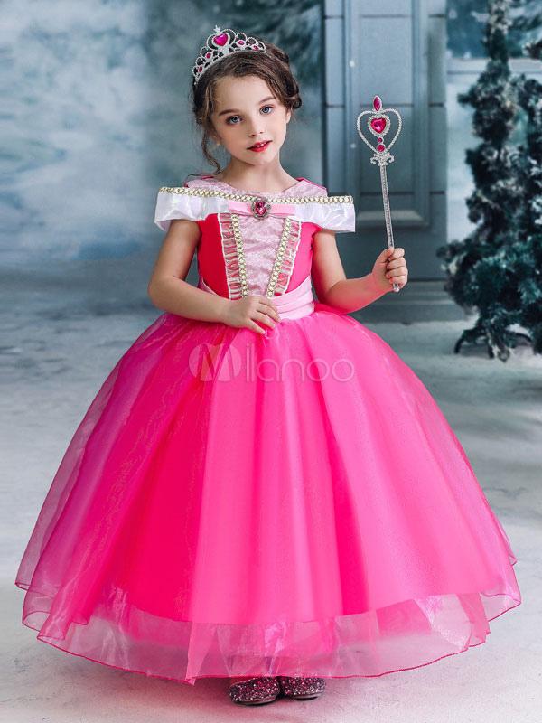 Aurora Principessa Vestito Costume bambina carnevale abito disponibile in Italia