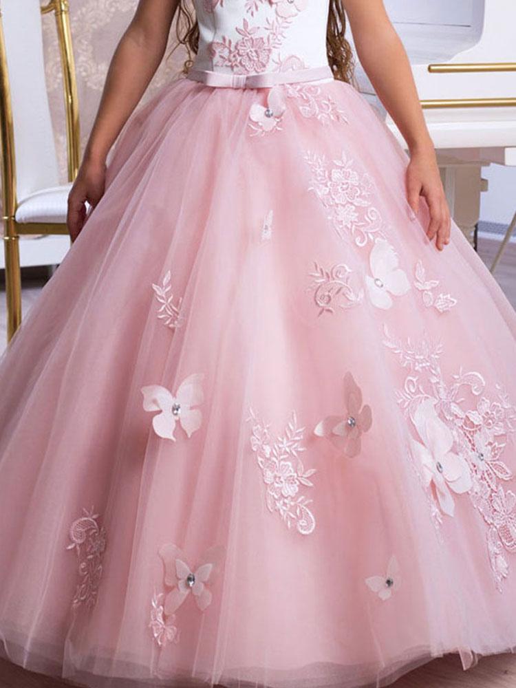 Blumenmädchen Kleider Prinzessin Hellrosa Abendkleider für ...