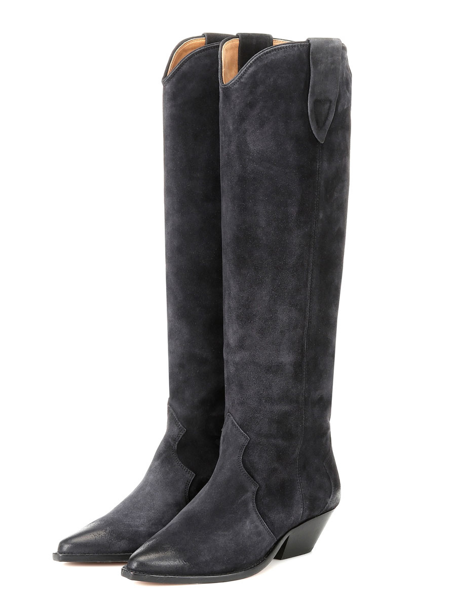 Knee High Boots Womens Solid Color