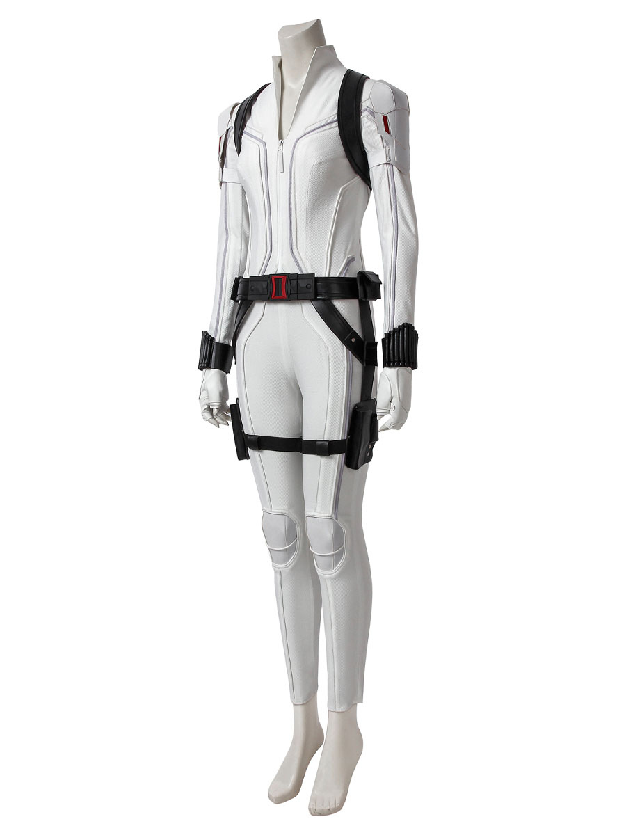 Black Widow Cosplay Natasha Romanoff White Pu Cosplay Costume