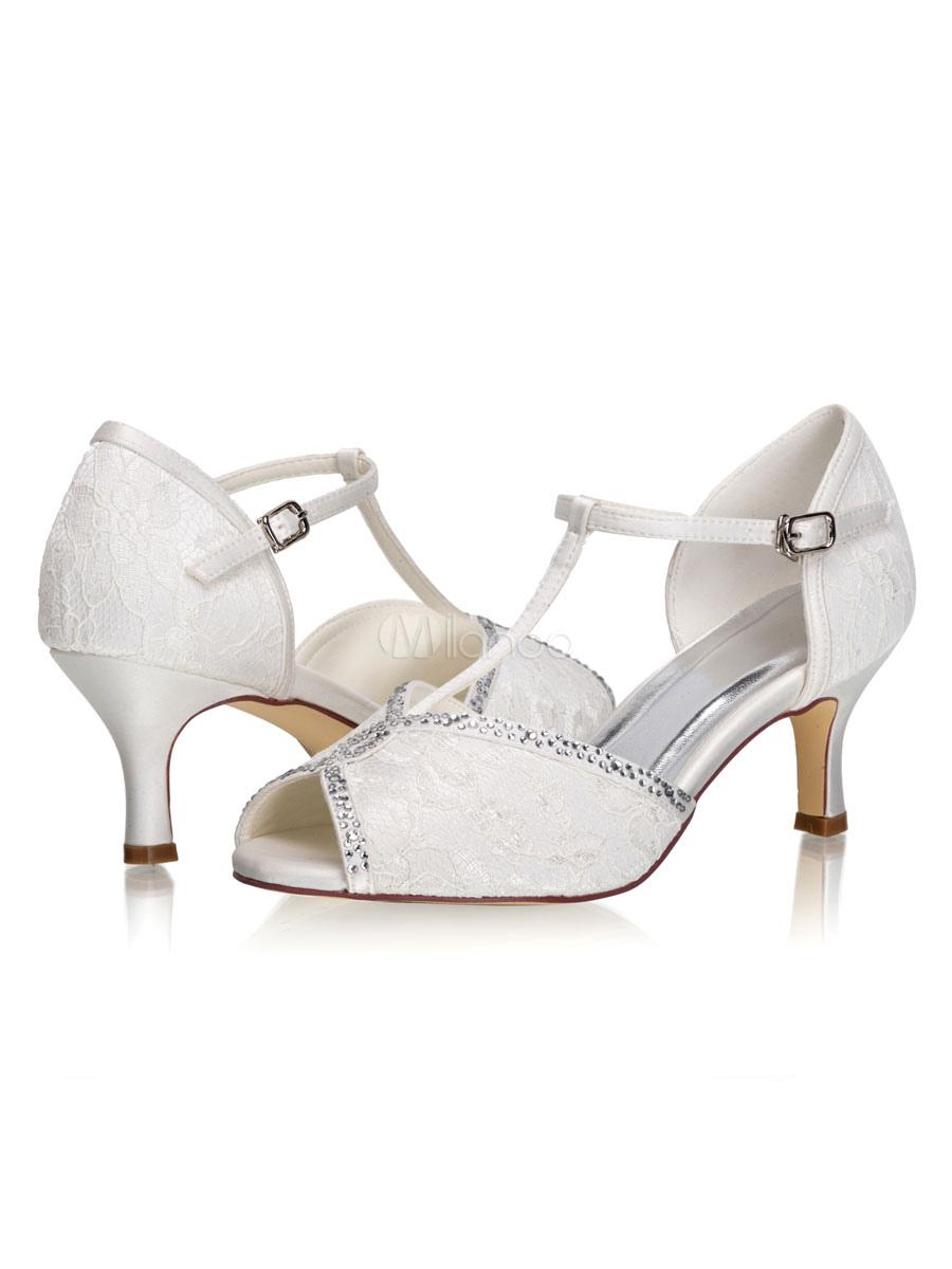 Scarpe Sposa Milanoo.Scarpe Da Sposa D Orsay T Type Peep Toe Kitten Heel 2 6 Scarpe Da