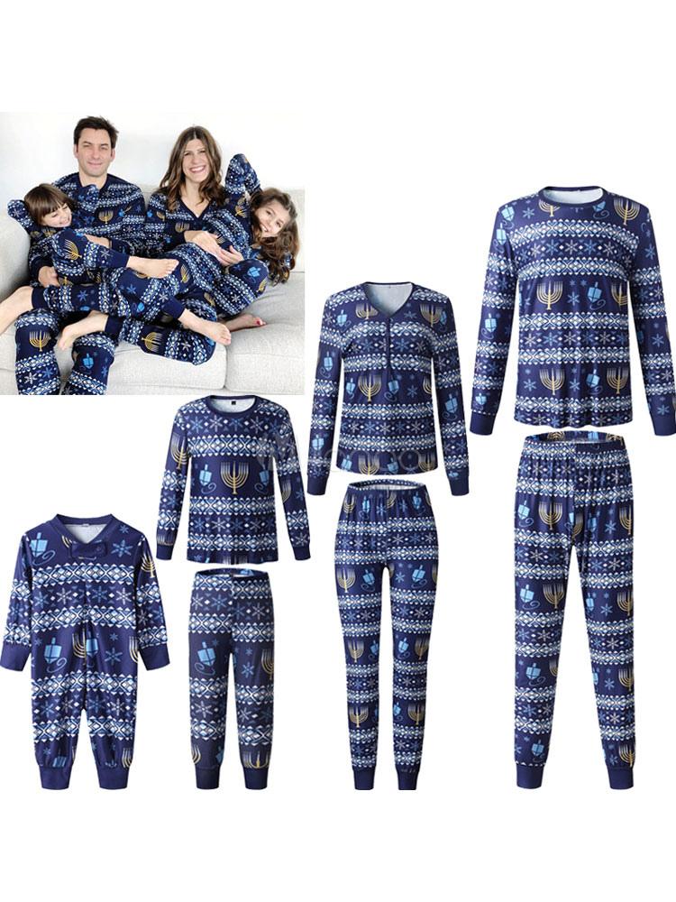 Family Christmas Pajamas Christmas Pattern Blue Family ...