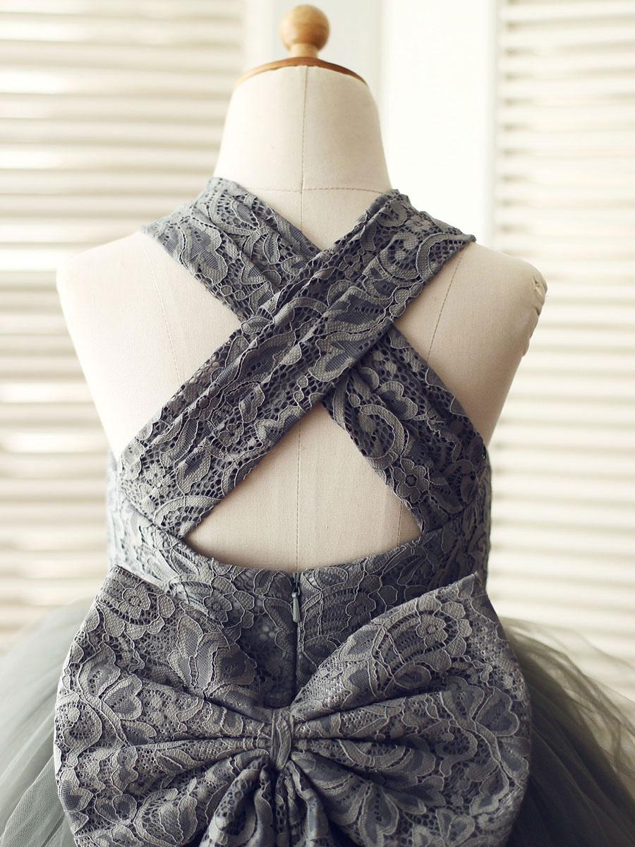 blumenmädchen kleider prinzessin grau abendkleider für