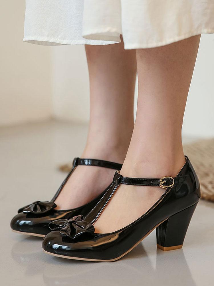 Chunky Low Heels
