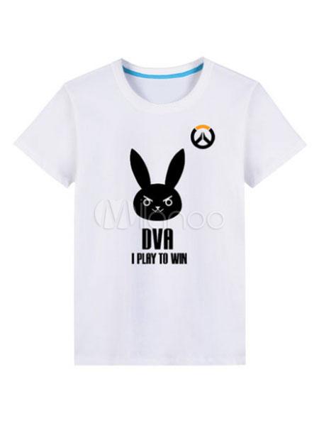 Overwatch OW D.va Black Cosplay camiseta - Milanoo.com 00dfa977a0edc
