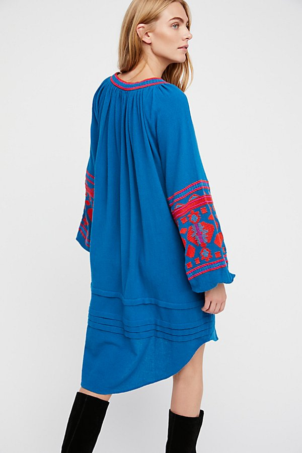 3850908642 ... Boho Summer Dress Ethnic Puff Long Sleeve Embroidered Shift Dress For  Women-No.10 ...