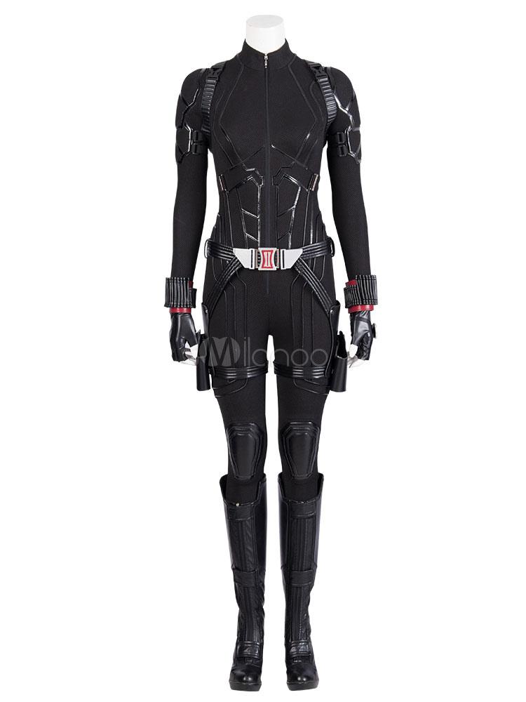 la vente de chaussures nouvelles variétés Réduction Veuve Noire Black Widow Natasha Romanoff Marvel Film Cosplay Avengers 4  Costume Cosplay Halloween