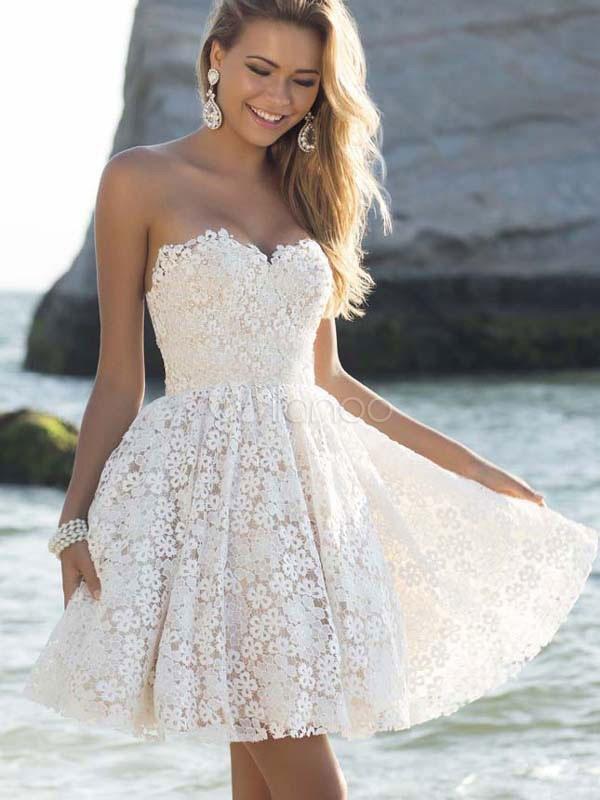161edfada3ab Compra Vestidos Baratos de Encaje , Vestidos Negros & blancos de ...