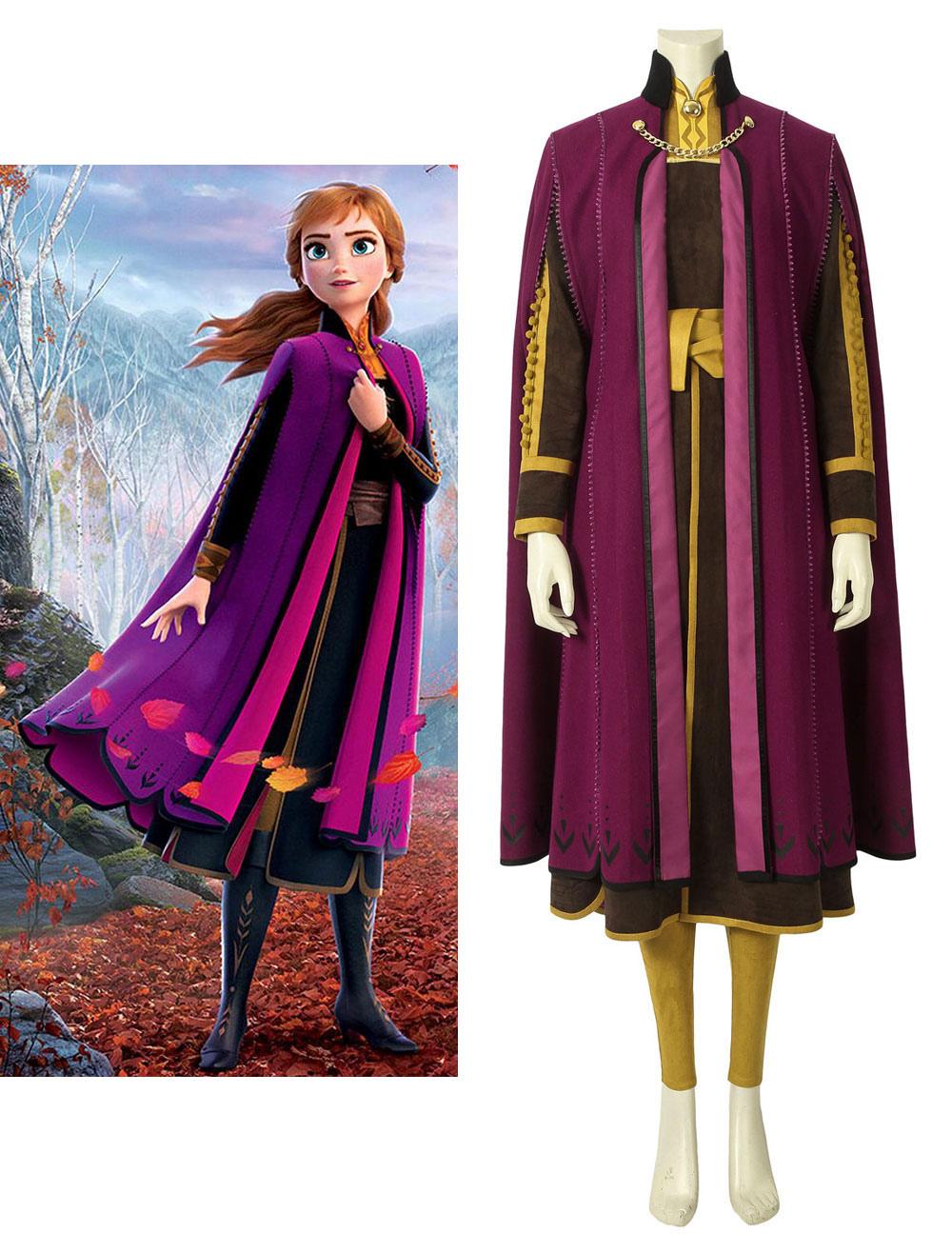 nuovo stile di vita ultima vendita modelli di grande varietà Film Animation Frozen 2 Cosplay Anna Fuchsia Cosplay Costume ...