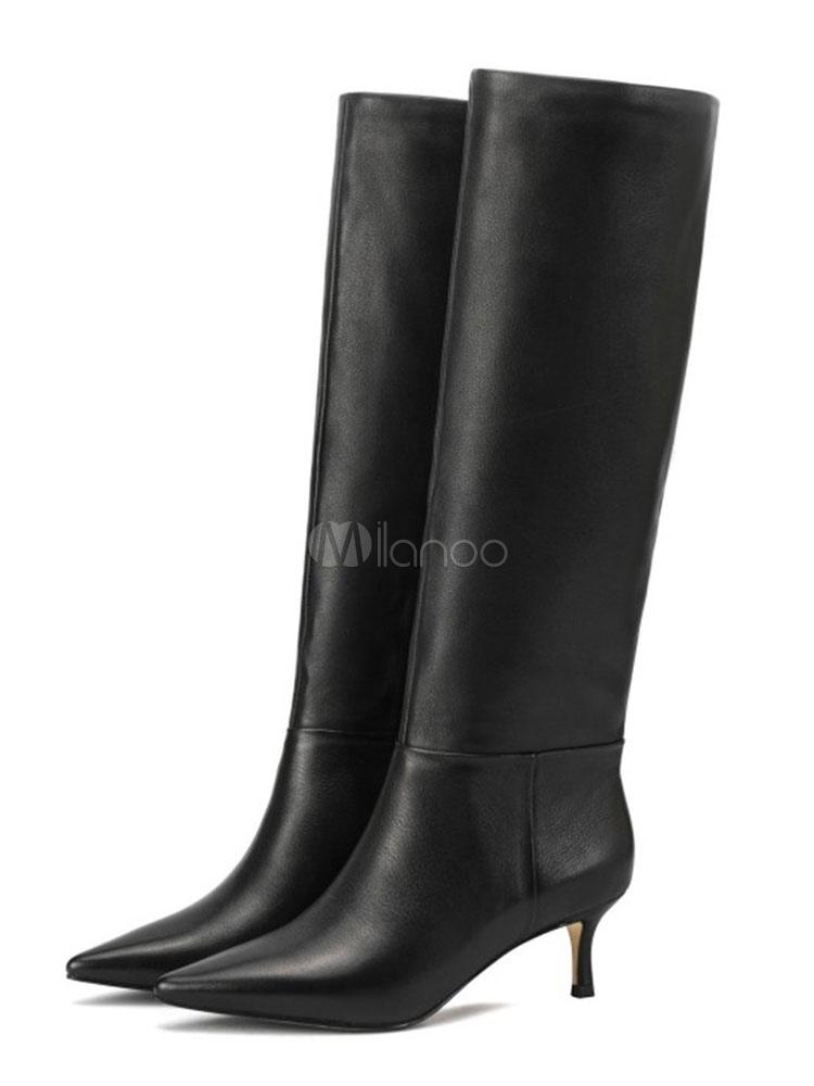 Kitten Heel Boots Knee High