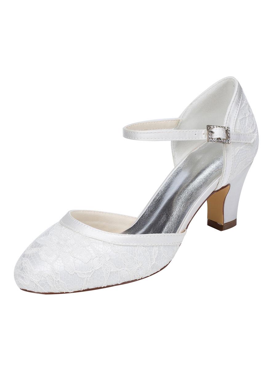 Scarpe Sposa Tacco Grosso.Eleganti Scarpe Da Sposa In Due Parti Scarpe Da Sposa Tacco Grosso