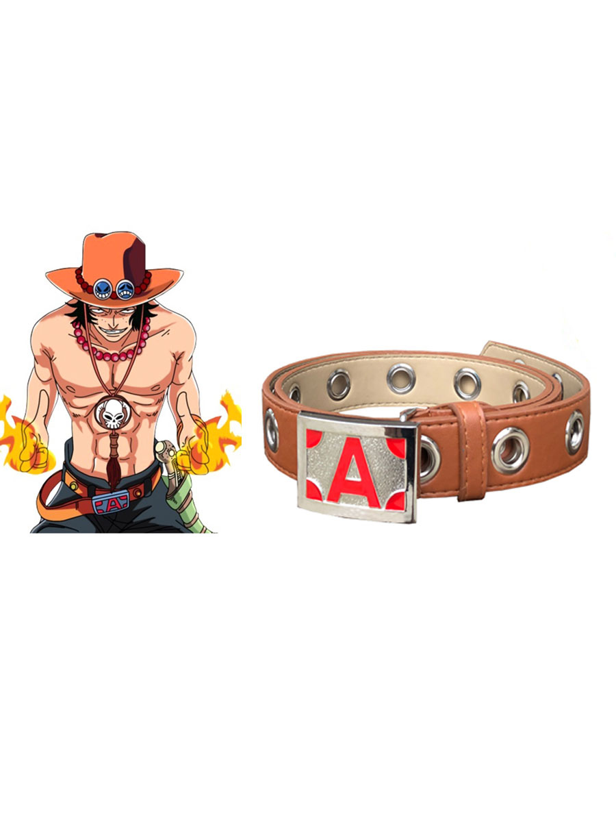 Fashion One piece Portgas D Ace Alloy Belt Anime Cosplay Halloween Accessories