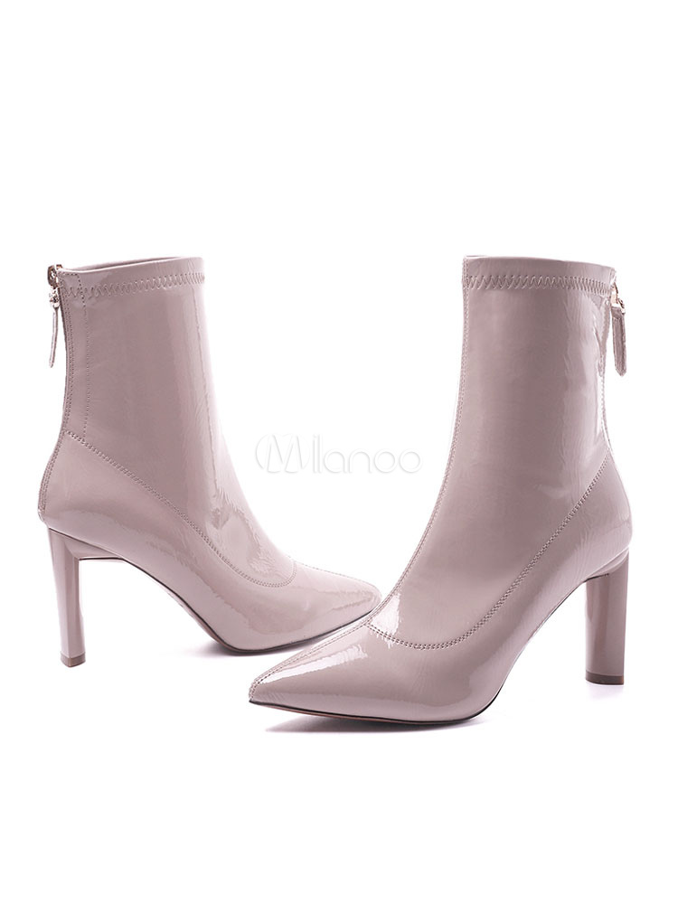 Amazon.com: Womens Leather Boots, Womens Patent Leather