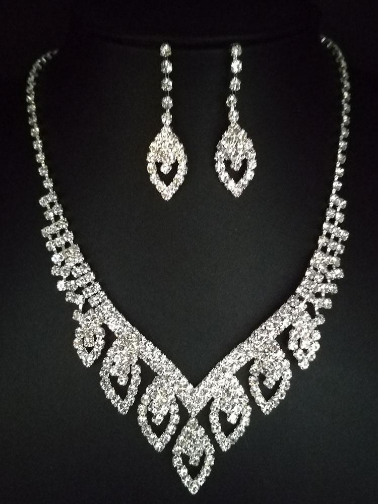 Women's Bridal Jewelry Set Beautiful Rhinestone Wedding Accessories -  Milanoo.com
