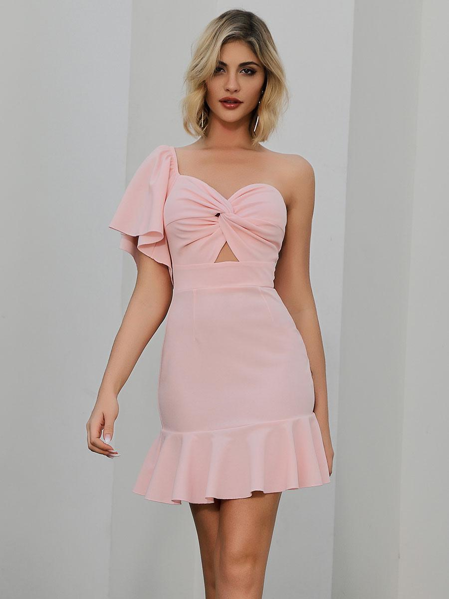 damen bodycon kleider rosa trägerlose cupless polyester midi etuikleid