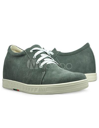 Gris aumento Hight zapatos frente Tie goma Suede masculino BmM93