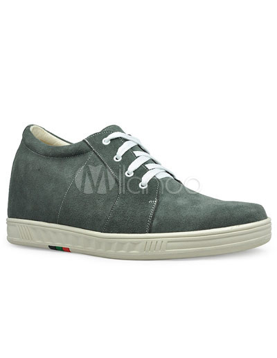 Gris aumento Hight zapatos frente Tie goma Suede masculino U4JvNhCG4f