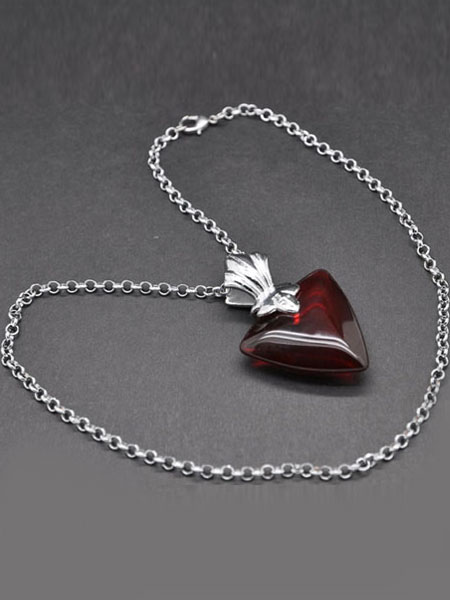 FATE stay night Rin Tohsaka Red Alloy Anime Pendant Necklace Halloween