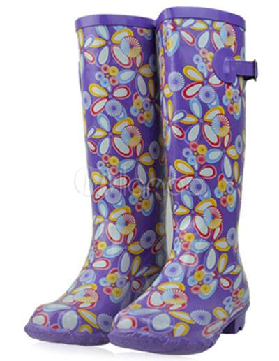 Botas de lluvia con hebilla de estilo dulce oZMgyNVz9U