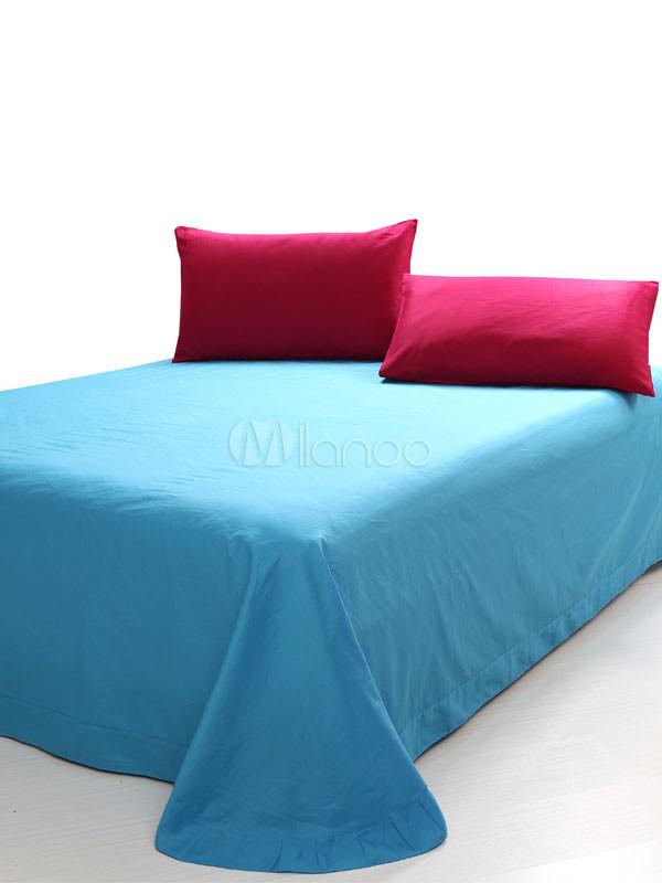 Blue Red Color Block Pattern Duvet Cover Bedding Set