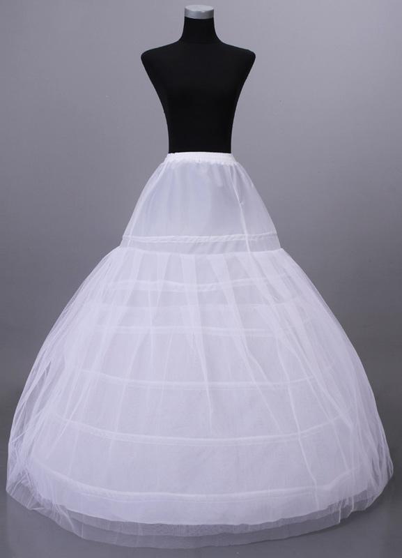 White Net Floor Length Women's Wedding Petticoat