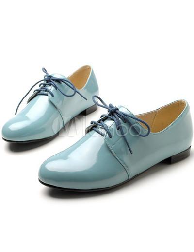 Ronda Mujer De Casual Cordones Charol Shoes Oxford Toe PnxnTwOaq