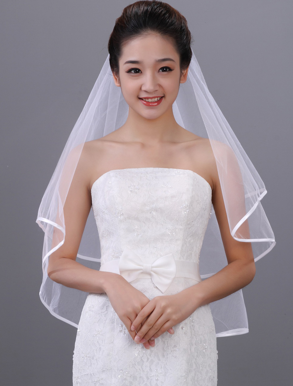 One-Tier Tulle Wedding Veils